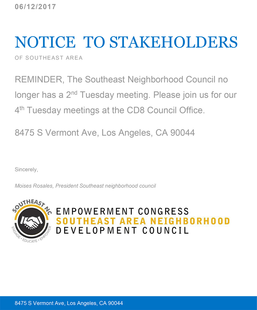 South East Area Neighborhood Council